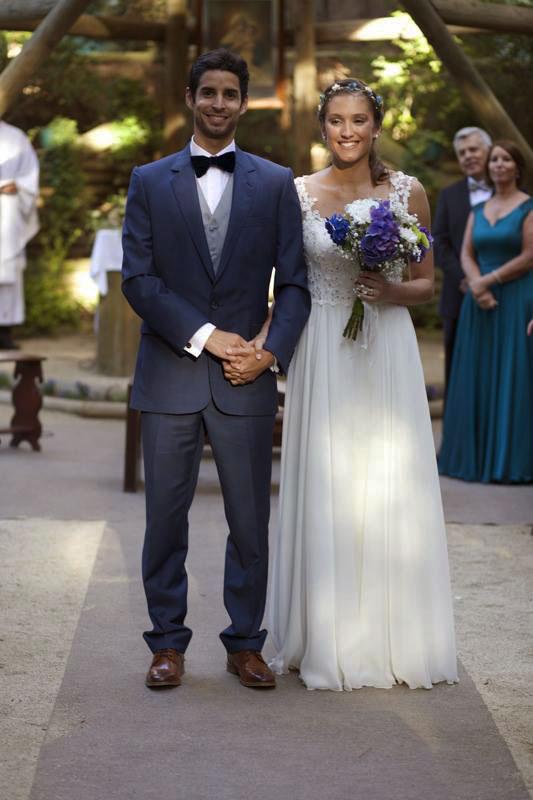 vestido de novia con faldon de gasa