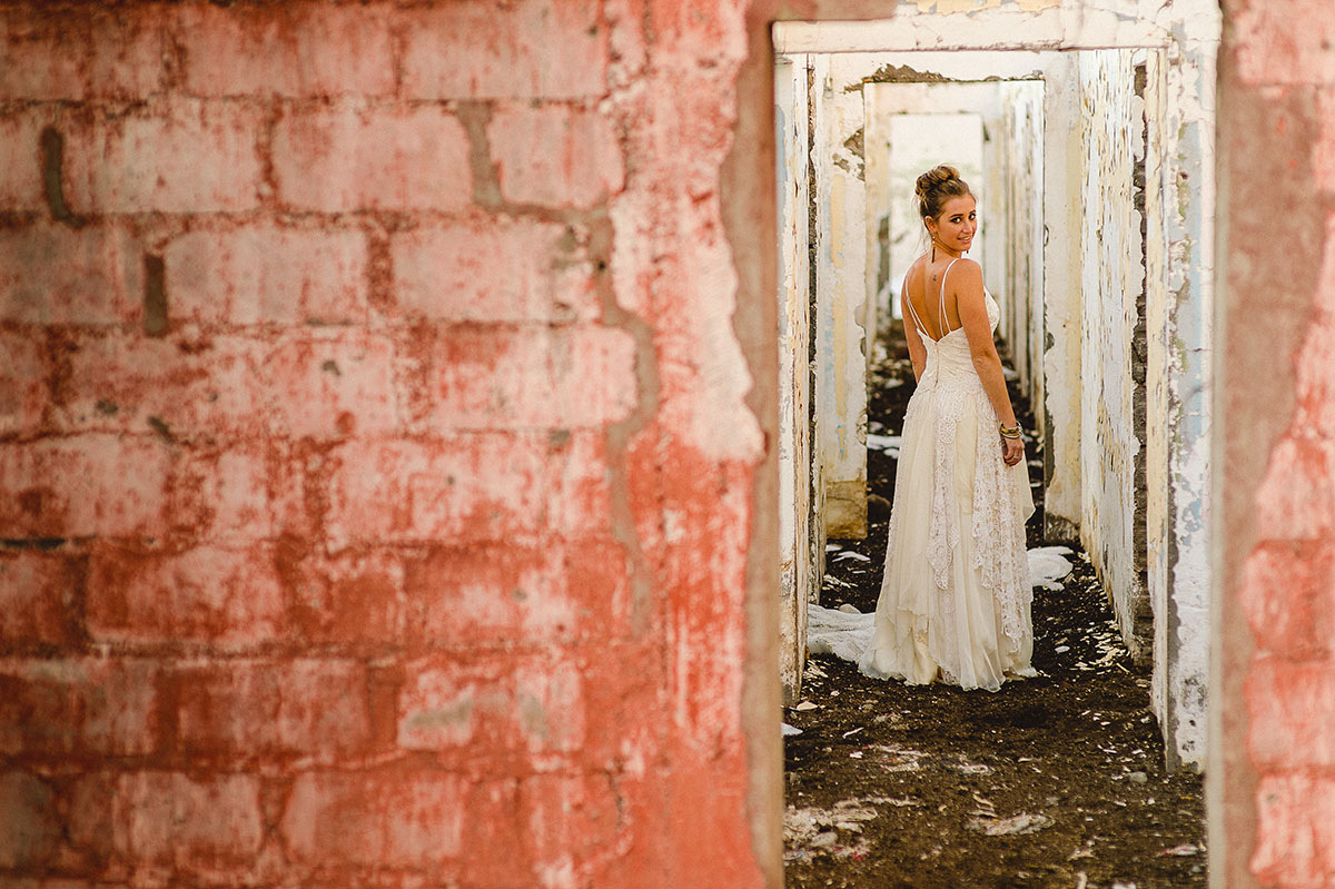 vestido de novia macrame